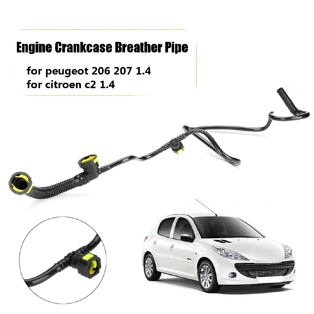 Car Engine Crankcase Breather Vent Exhaust Hose Pipe for Peugeot 206 207