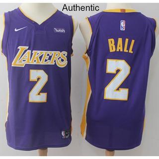 on sale c360c c6815 Nice Nike Lakers #2 Lonzo Ball Purple NBA Authentic ...