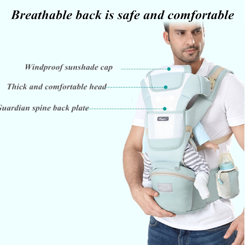 Front /& Back Baby Newborn Carrier Infant Comfort Backpack Sling Wrap Cotton OY