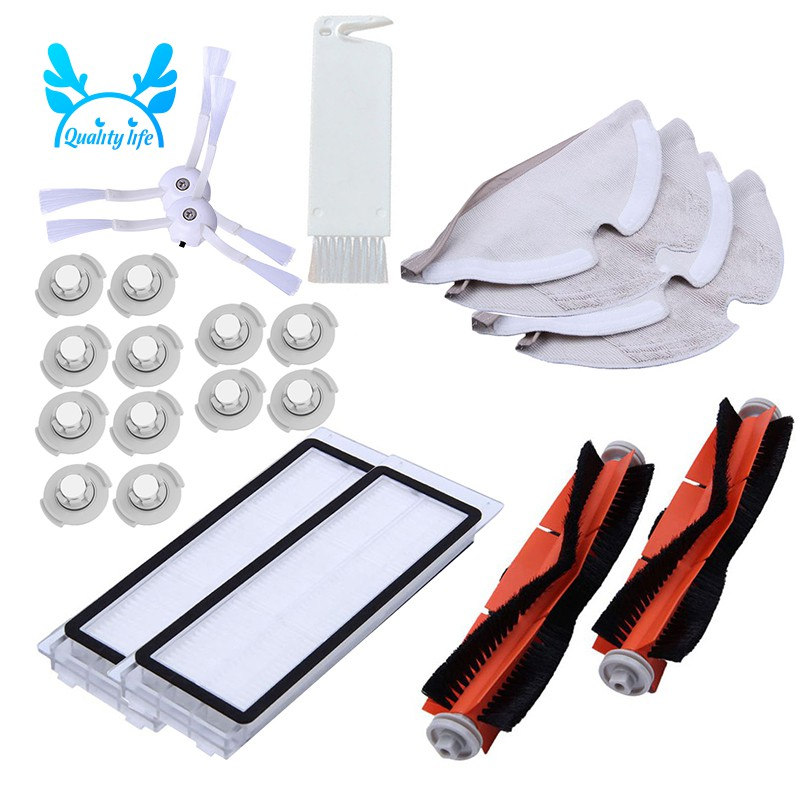Enthusiastic Vacuum Cleaner Spare Parts For Xiaomi Roborock Mi Robot Kits 2pc Filter 2pcs Side Brush 1pc Main Brush 1pc Virtual Magnetic Wa Vacuum Cleaner Parts Home Appliance Parts