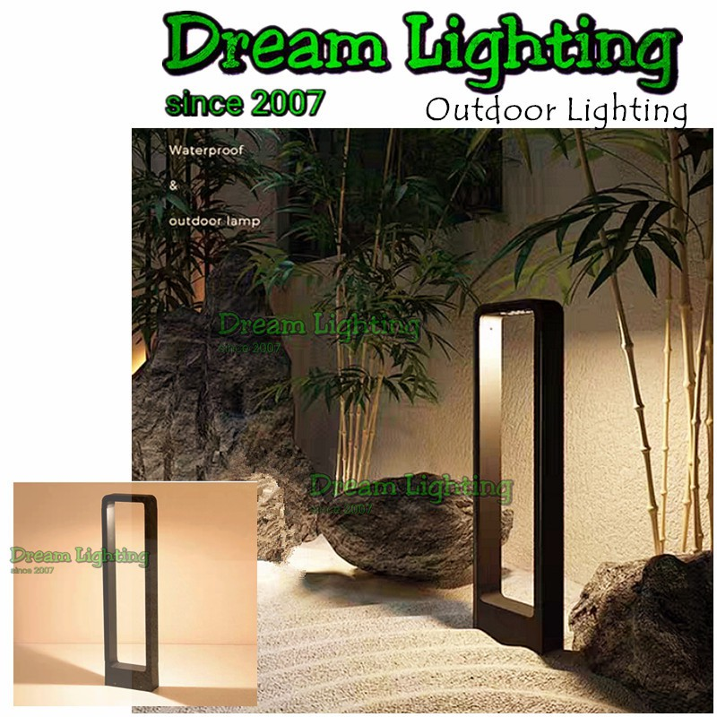 Dream Lighting Led Modern Outdoor Garden Post Light Bollard Pole Light Landscape Lampu Luar Tiang Lampu Taman Shopee Singapore