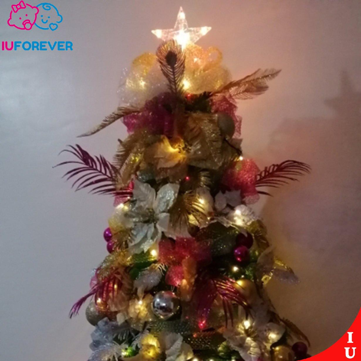 Iuchristmas Star Lights Christmas Tree Topper Star 3d Led Top Lights Auto Flash Shopee Singapore