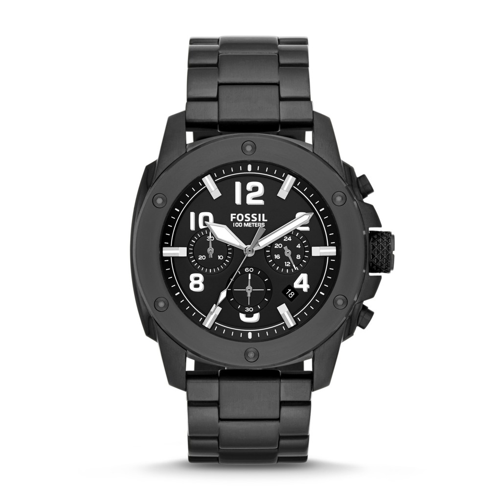 Original Fossil Watch Townsman Automatic Stainless Steel Watch – Black ME3062 | Shopee Singapore