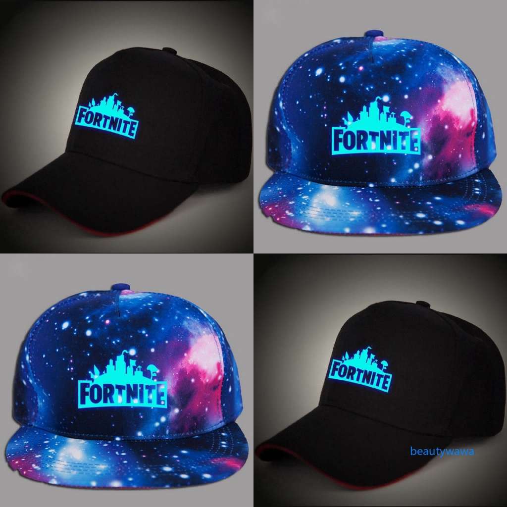 0609e8de82e ✿WA✿ Boys Fortnite Hardcore Rapper Requisite Cap Adjustable Logo Glow In  Dark