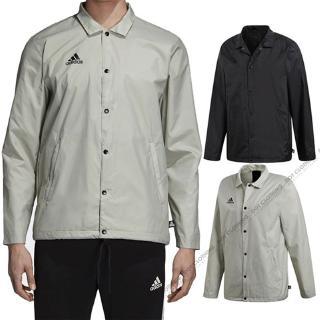 Adidas Tan stadium black grey Khaki Coach Jacket Windbreaker Coat Stand cw7422