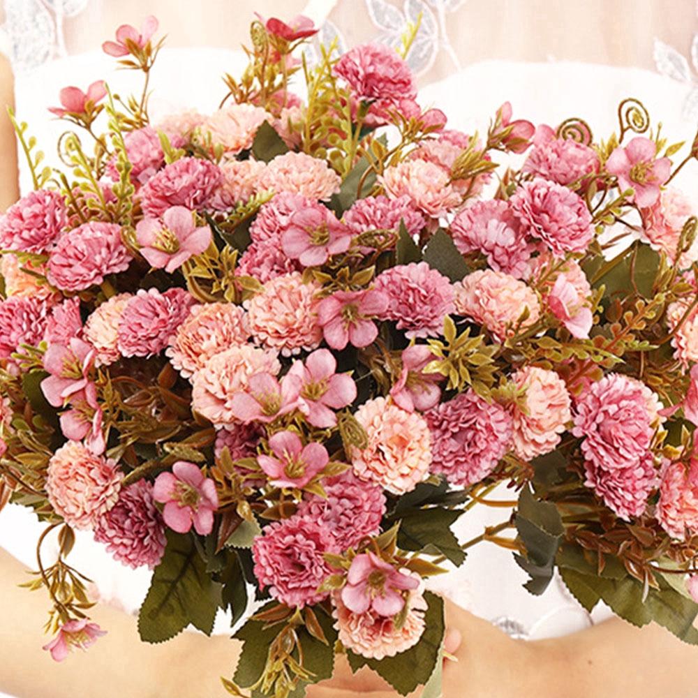11 Artificial Flower Bouquets Mini Lilac Silk Flower Arrangement Diy Decoration Shopee Singapore