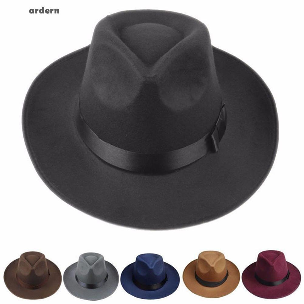 9af1314eb1b shoes Sun Visor Men Women Hard Felt Wide Brim Fedora Panama Hat Autumn Vintage  Cap