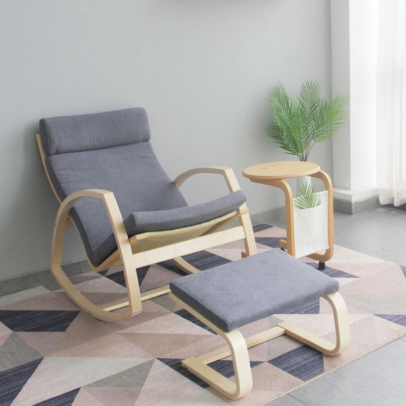 Ikea Pello Chair Home Solid Wood Recliner Lounge Chair Pelo Single Sofa Armchair Old Person Rocking Chair Pregnant Woman Shopee Singapore