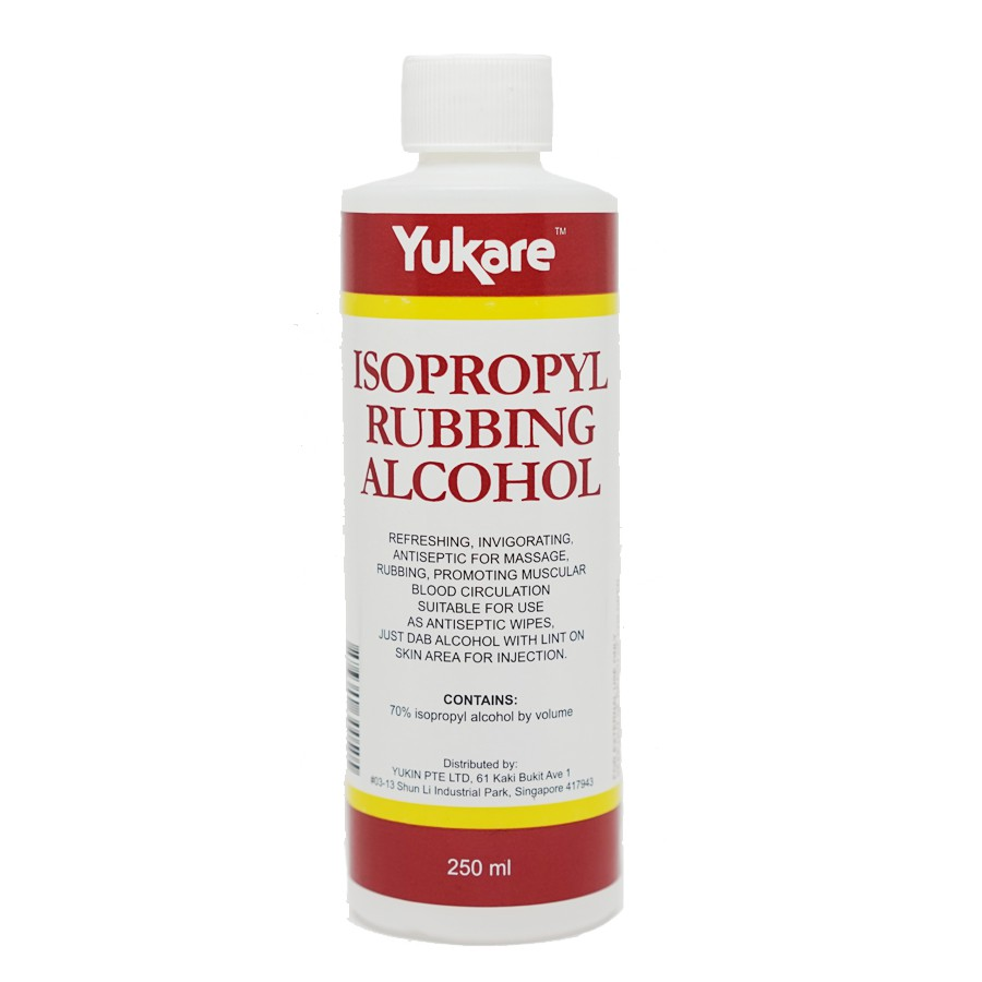 Yukare 70% Isopropyl Rubbing Alcohol - An Effective Disinfectant For Daily  Cleaning & Beauty Routine (250ml)