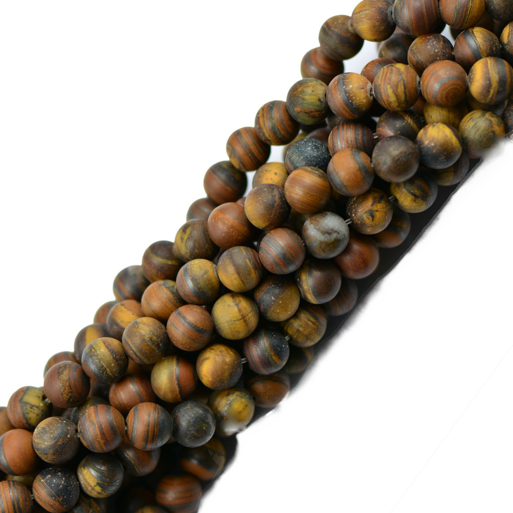 Golden Tiger Eye Stone Rounds Natural Gemstone Spacer Beads 8mm 15inch Craft