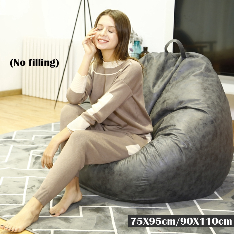 Awe Inspiring Technology Cloth Bean Cover Beanbag Chair No Filler Living Room Bedroom Sofa Dailytribune Chair Design For Home Dailytribuneorg