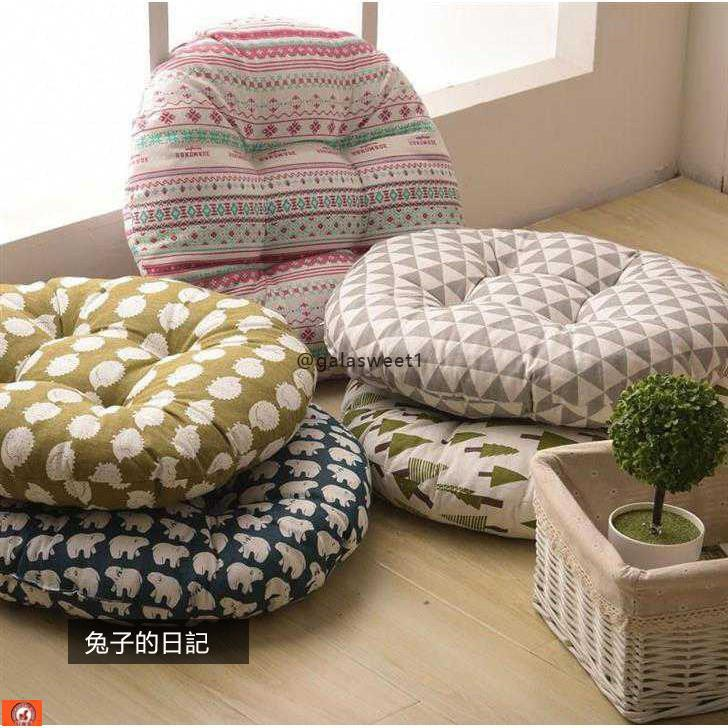 Tatami Mat Round Futon Cushion Yoga