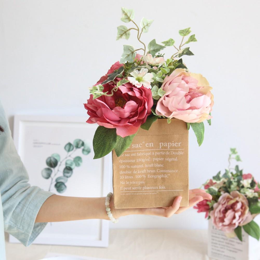 3 Heads Artificial Peony Flower Bouquet