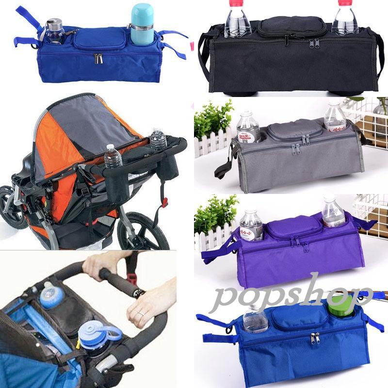 Stroller Pushchair Pram Cup Bottle Holder Buggy Drink Food Insulated Storage Bag