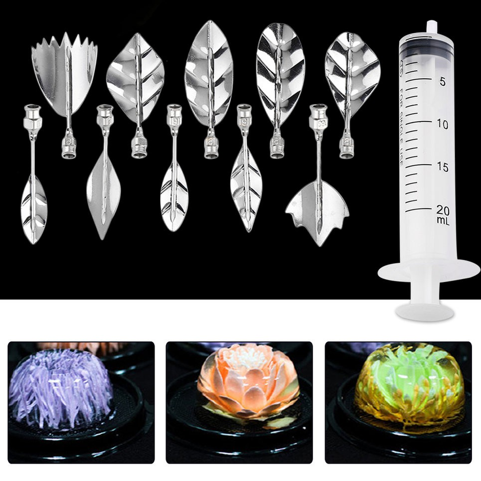 Kochen & Genießen 3d Jelly Flower Art Tools Syringe 3d Gelatin Art Tools Jello Gubbins Set Ax