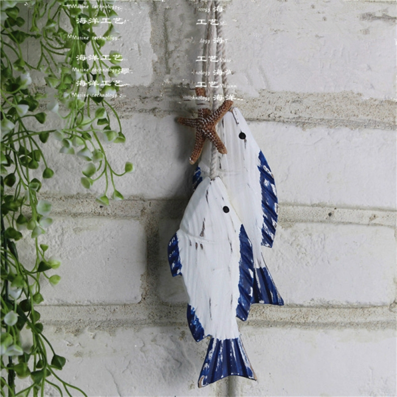 Wooden Hanging Fish Coastal Village Diy Craft Nautical Handicrafts Wall Hanging Decorations Photography Props Shopee Singapore