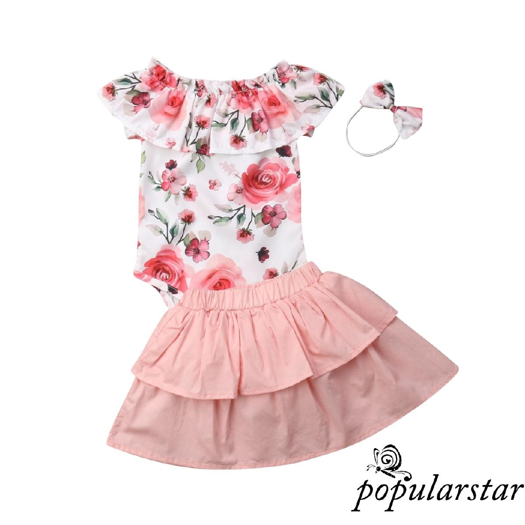 Fairy Baby Infant Baby Boy Girl 2pcs Outfit Cotton Sleeper Pajamas Striped Romper