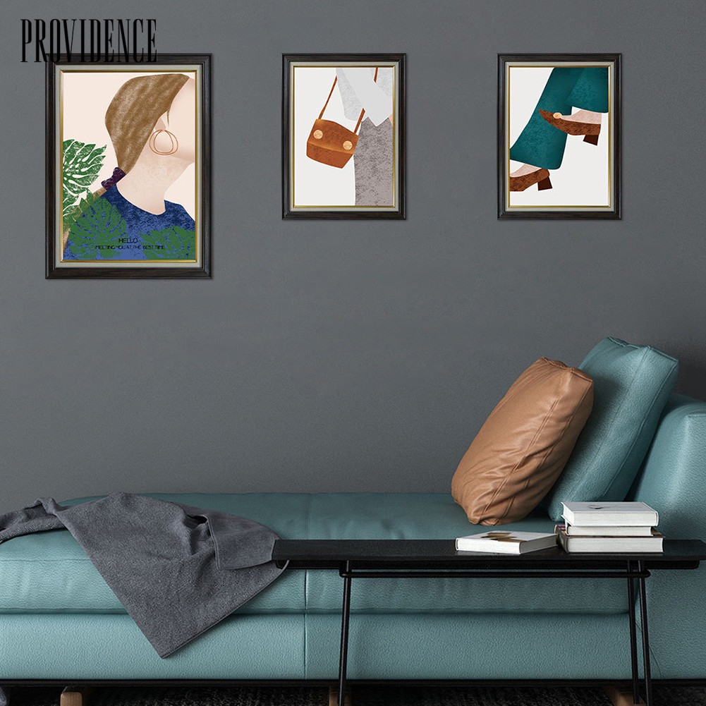 Providence08 3pcs Set Girl Style Wall Art Painting Decals Sticker