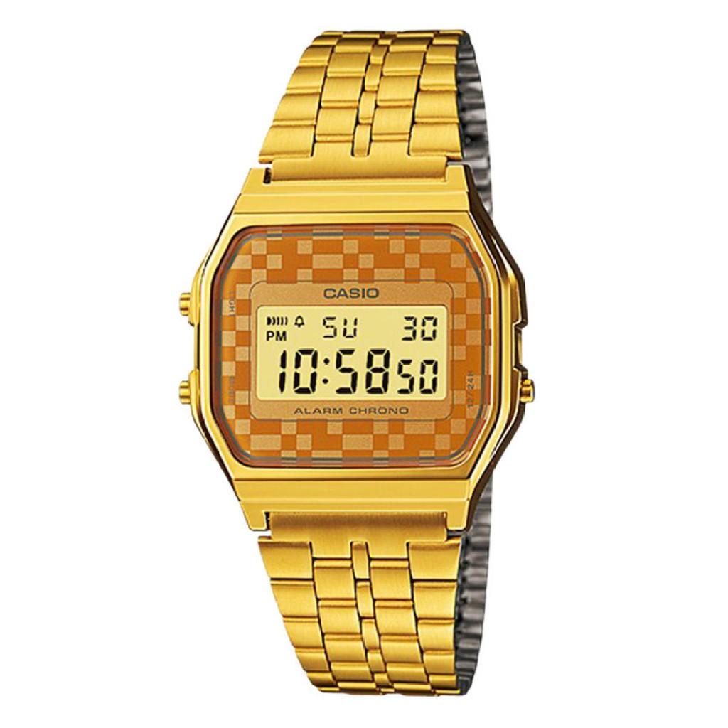 adff7e401dd Casio Vintage Standard Digital Rose Gold Ion Plated Band Watch A168WECM-5D