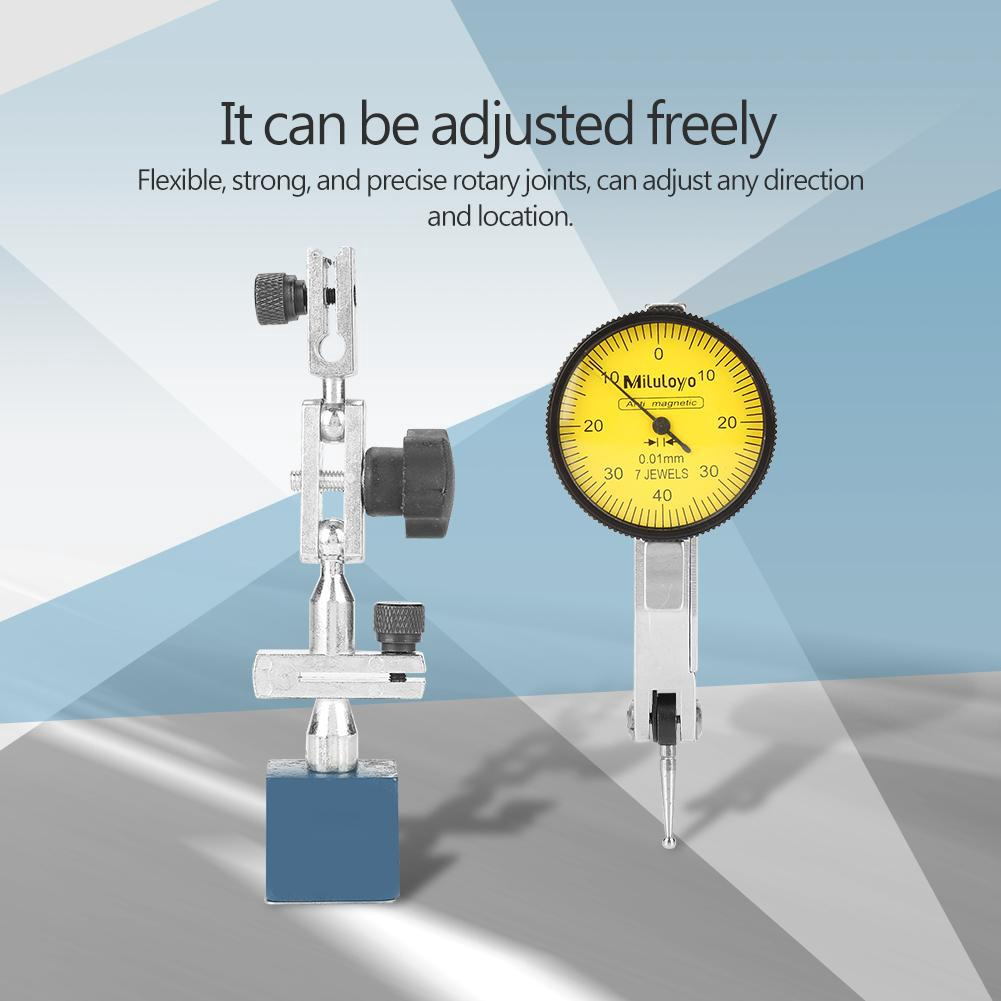 Blue Magnetic Base Holder With Flexible Arm Jig For Level Dial Test Indicator