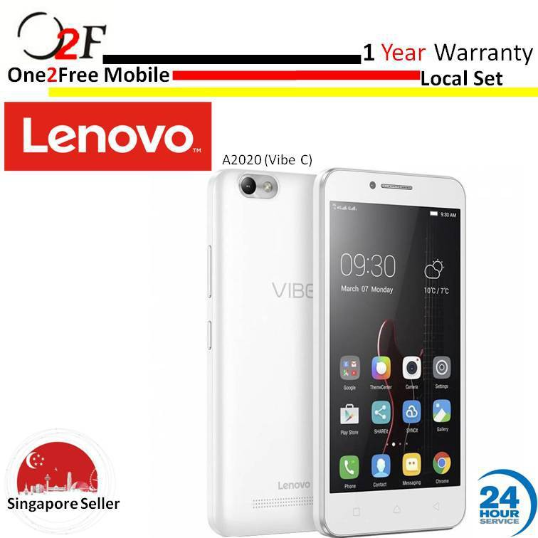 [MOTOROLA]Lenovo Vibe C A2020 |1 year local warranty|Free Gift back cover| Black | Shopee Singapore