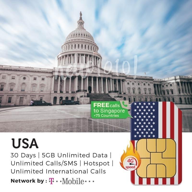 USA, Canada & Mexico Travel Prepaid Sim Card