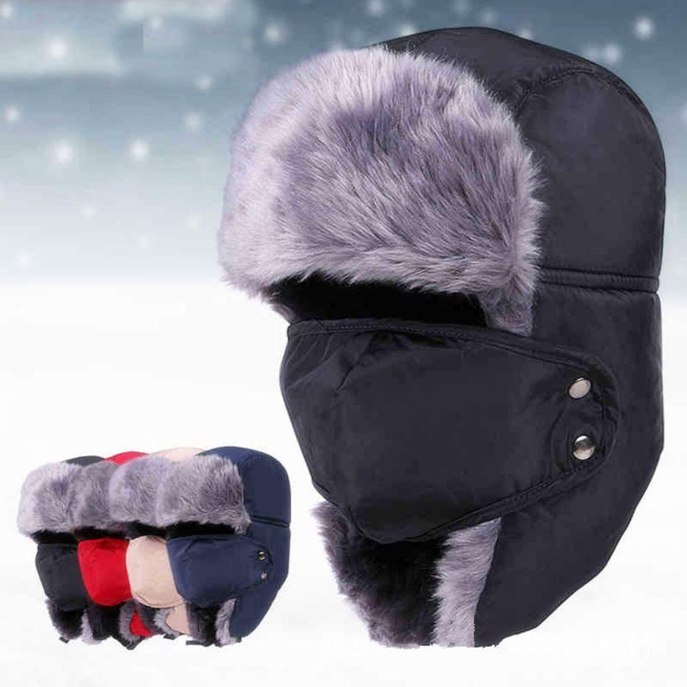 d3f63887227 Winter Warm Ushanka Trapper Aviator Earflap Ski Hats