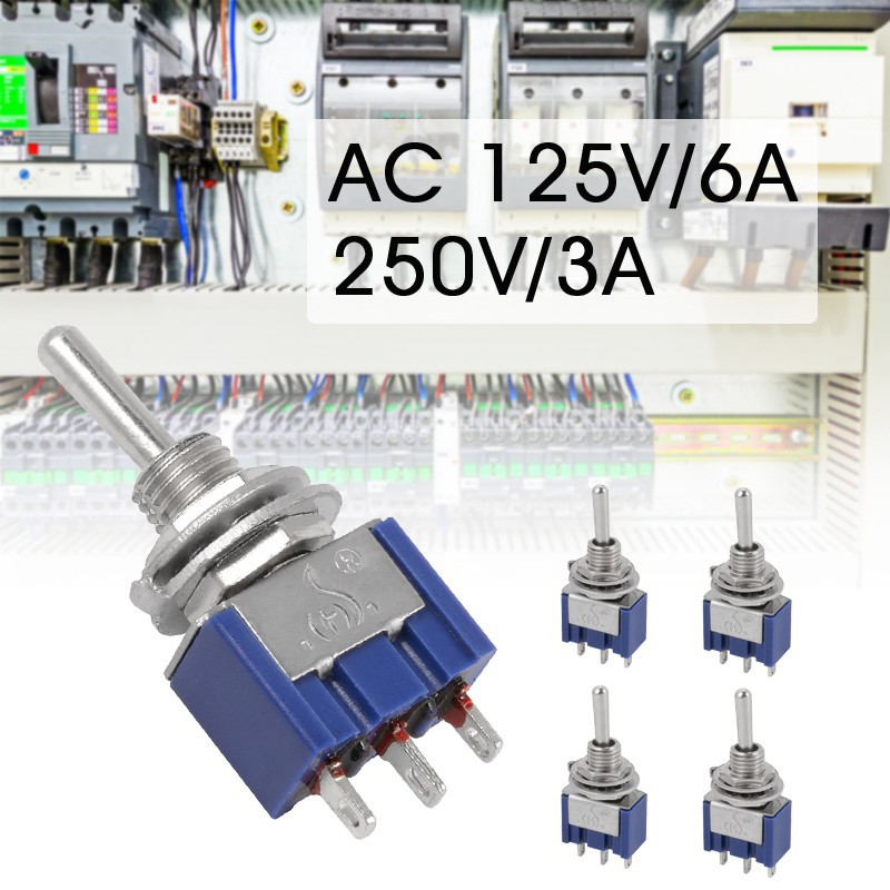 New 5x AC125V 6A 3 Position 3Pin SPDT ON-OFF-ON Micro Mini Toggle Switch Quality