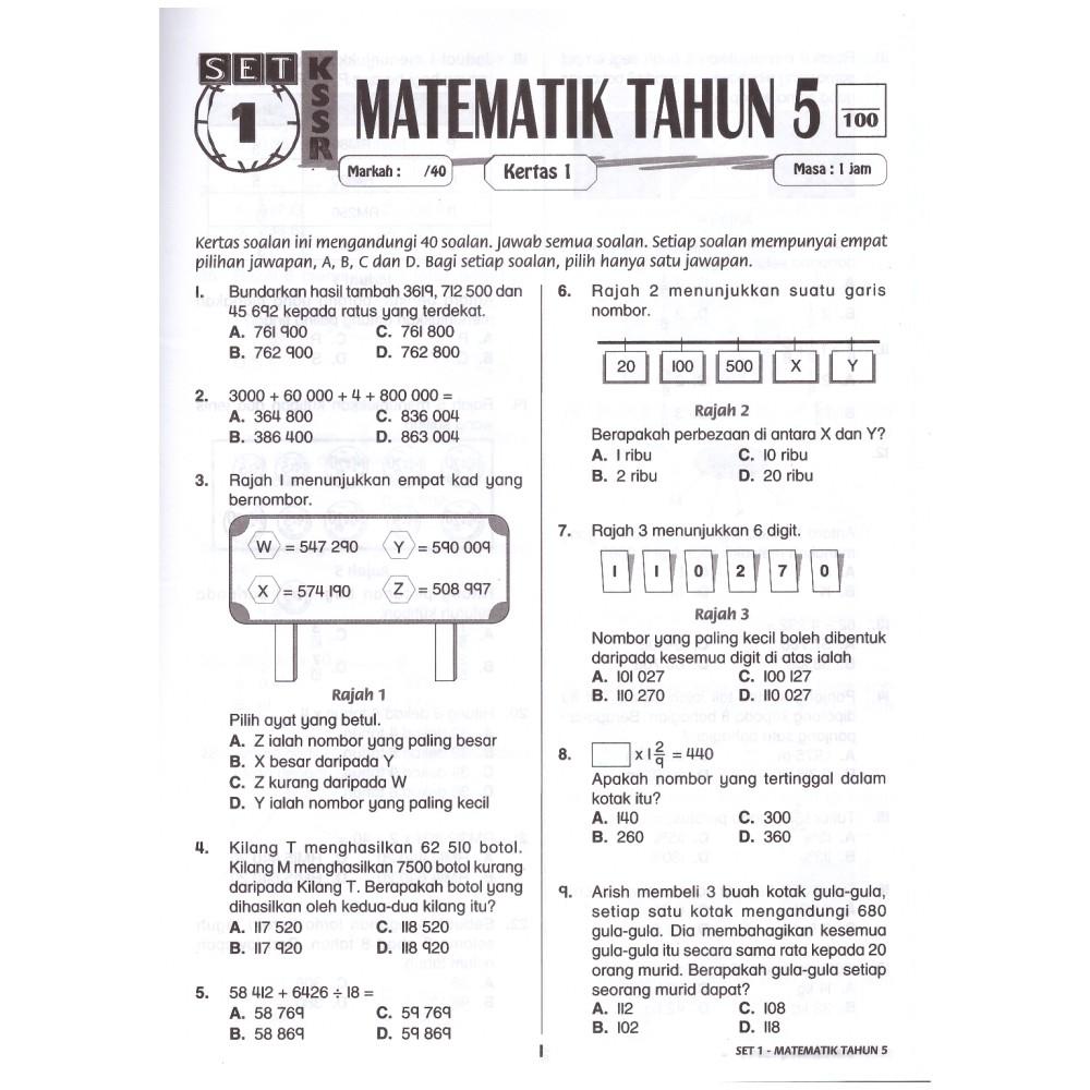 Topbooks Ilmu Didik Aktiviti Pintar Matematik Soalan Objektif Subjektif Tahun 5 Shopee Singapore