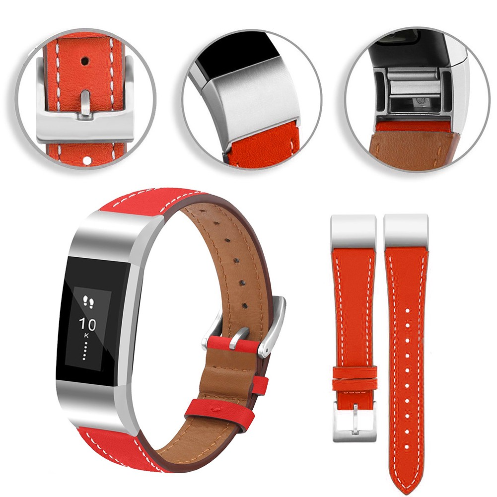 ATUP Leather Band Compatible for Fitbit Alta HR Bands and Fitbit Alta Band Strap 007, Brown