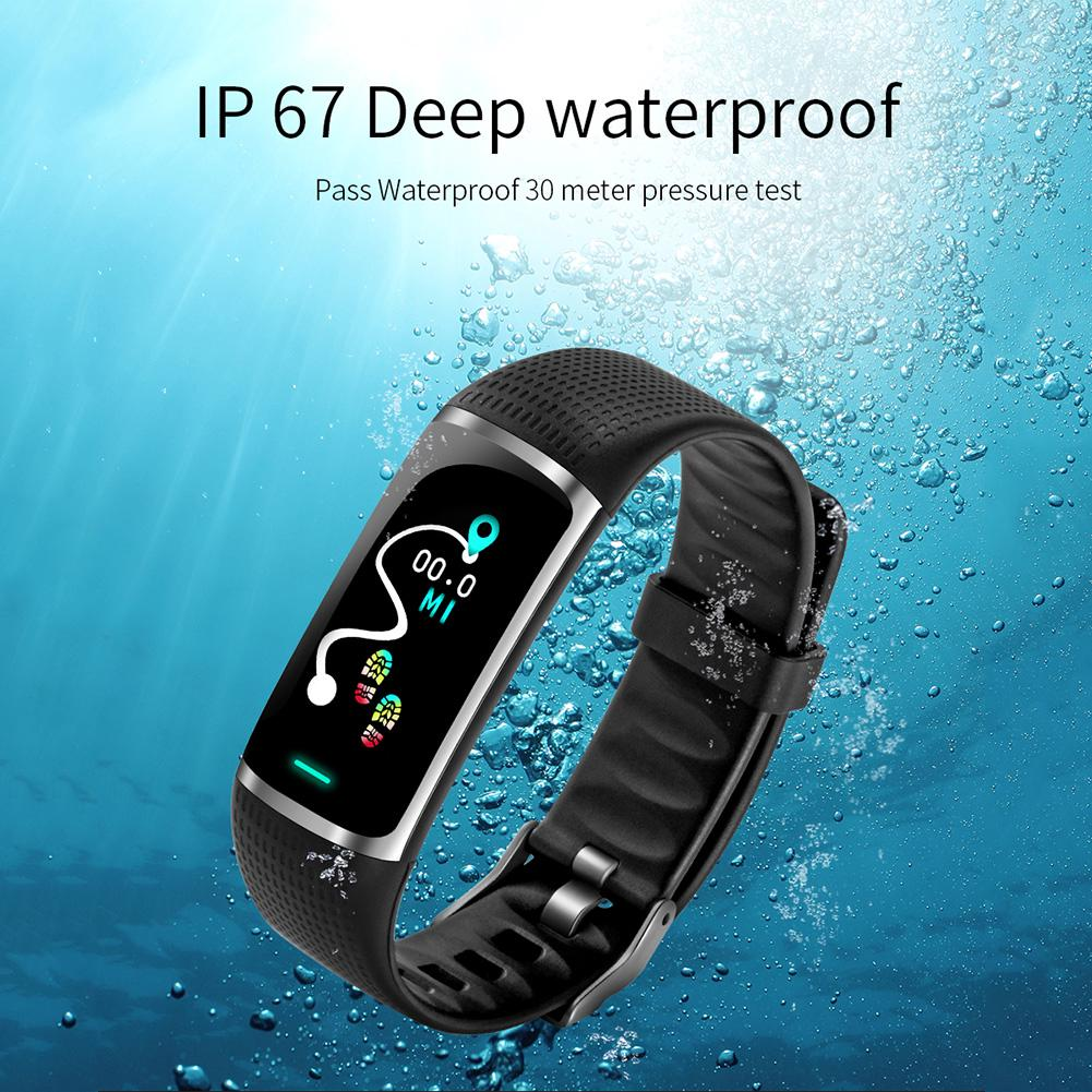 Heart Rate Monitor Smart Sports Pedometer Waterproof Blood Pressure Measure