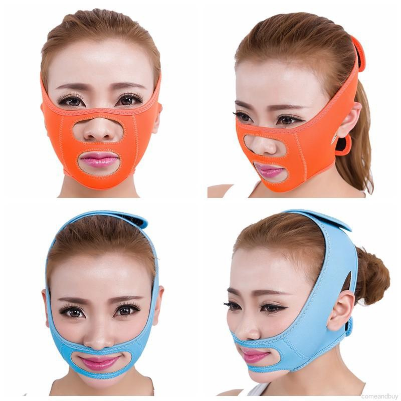 Massage & Relaxation 1pcs Face Lift Belt Sleeping Mask Face V Shaper Facial Slimming Bandage Relaxation V-line Cheek Chin Massage Health Product Tin
