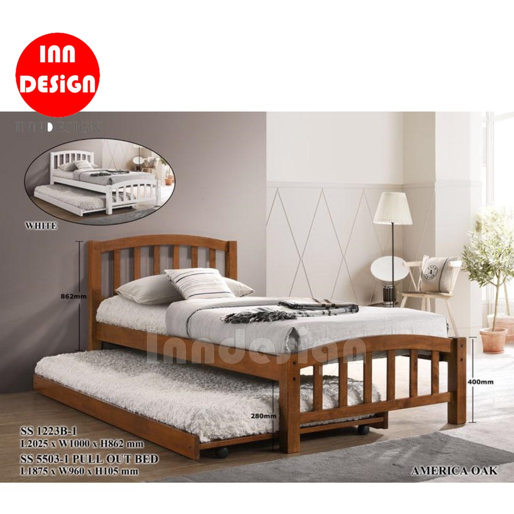 Single Solid Wooded Bed Frame