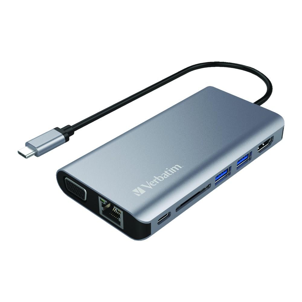 Verbatim Dual Type-C Hub w// HDMI /& RJ45 USB 3.0 Reader for Apple New Macbook Pro