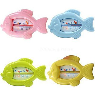 Baby Floating Fish Water Thermometer 10-50C Plastic Float Bath Toy Tub Sensor ~