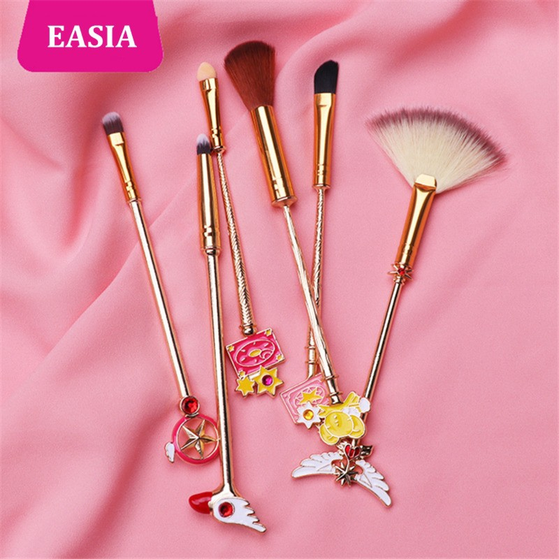 Beauty & Health New Cardcaptor Sakura 7pcs Makeup Brush Set Solid Metal Magic Wand Sailor Moon Blending Eyeshadow Teen Girl Gift Brush Kit
