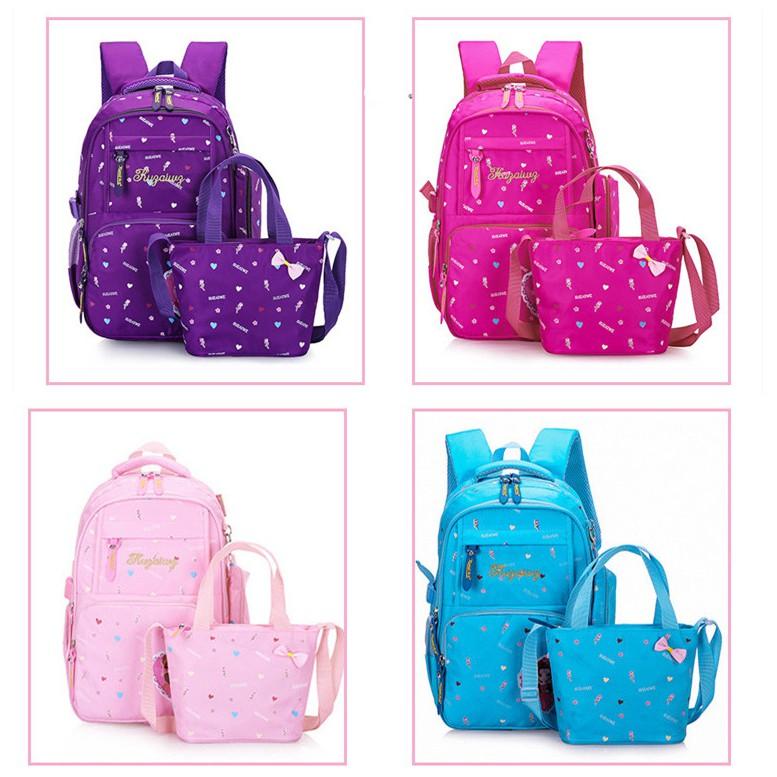 Doraemon Cartoon Pupil Students Girls Kids School Book Bags Backpacks 5-9Years