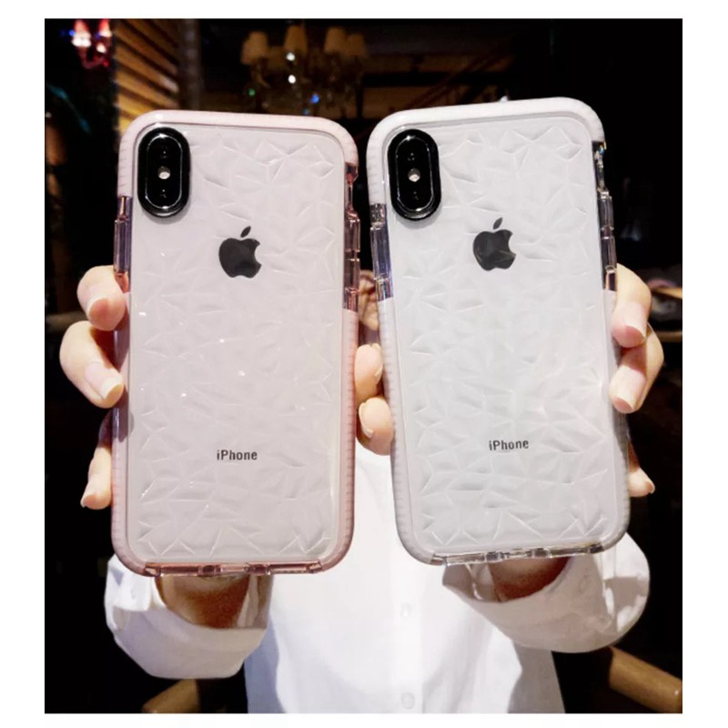 new style a50fc 2f43b iPhone XS Max XR 6 6s 7 8 Plus Simple Clear Electroplate Silicone TPU Cover  Case