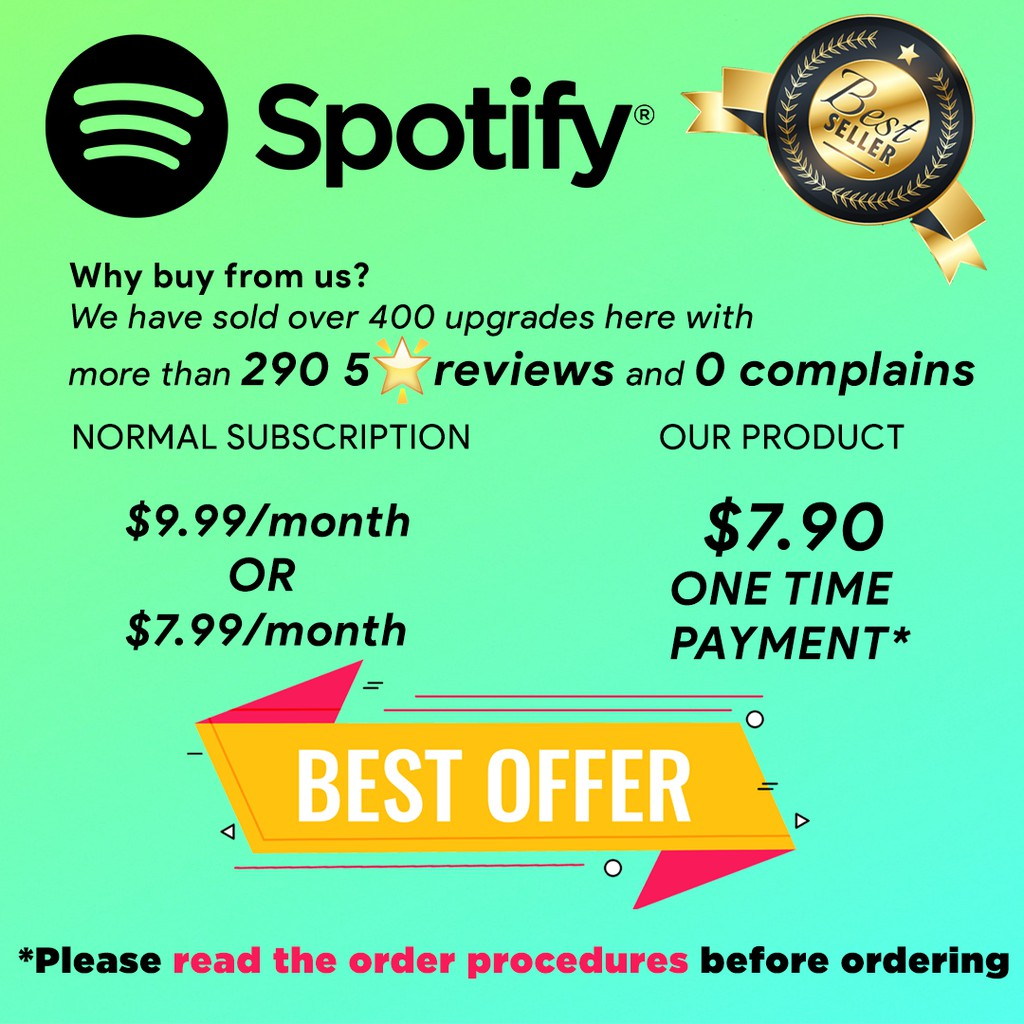 [FLASH DEAL 13% OFF] Spotify Premium Upgrade [For your personal account,  not shared]