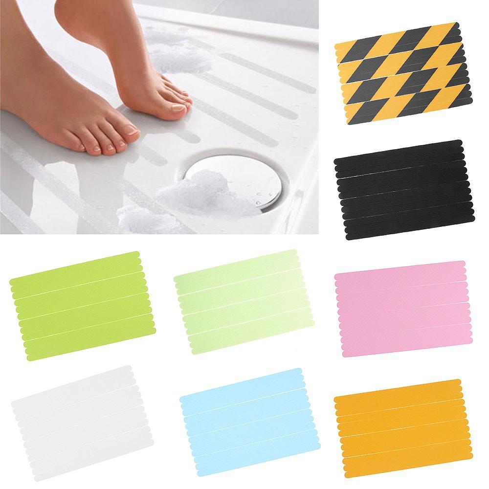 12 PCS Anti Slip Bath Grip Strips Stickers Non Slip Shower Pad Flooring Tape Mat