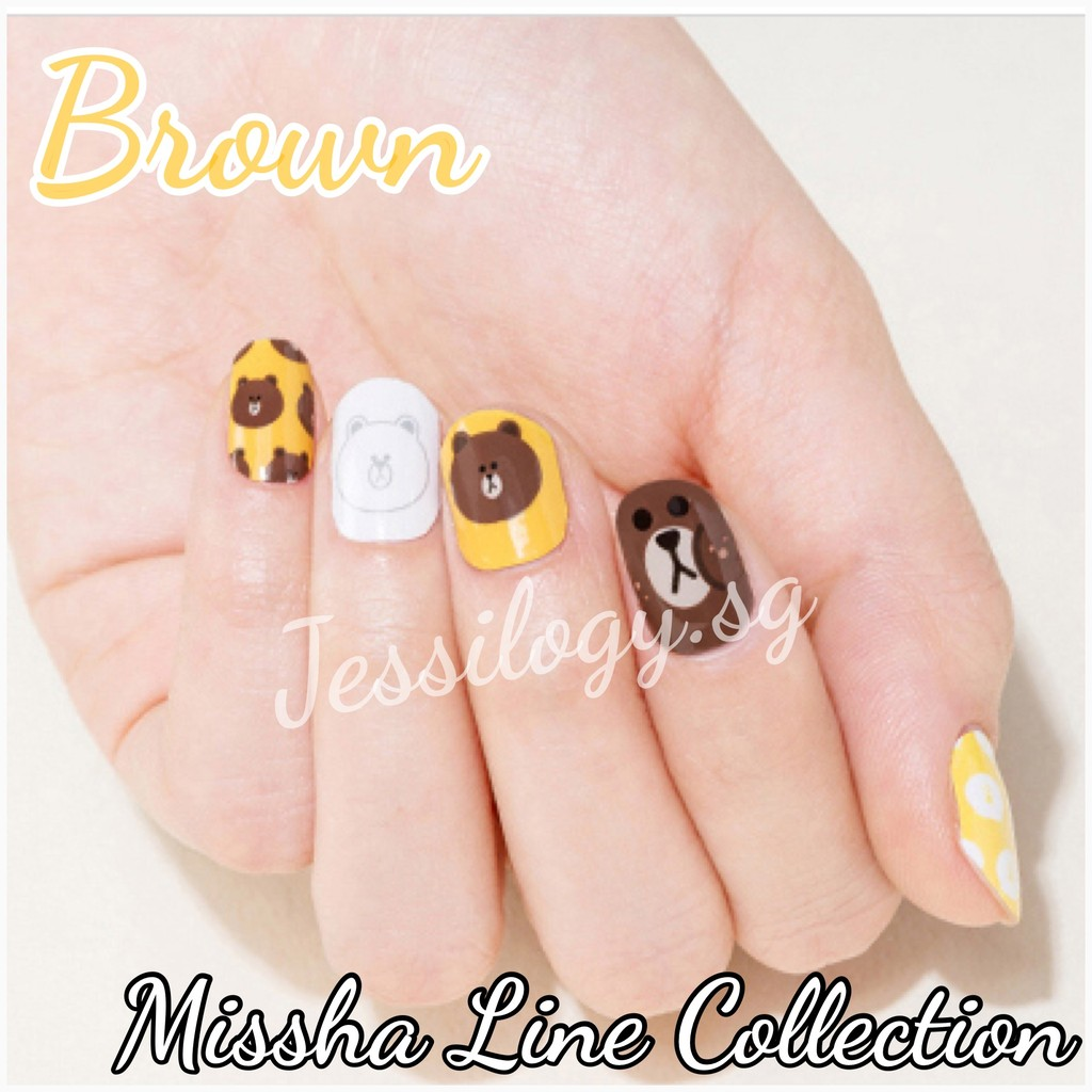 Missha x Line Friends Glam Nail Art Collection | Shopee