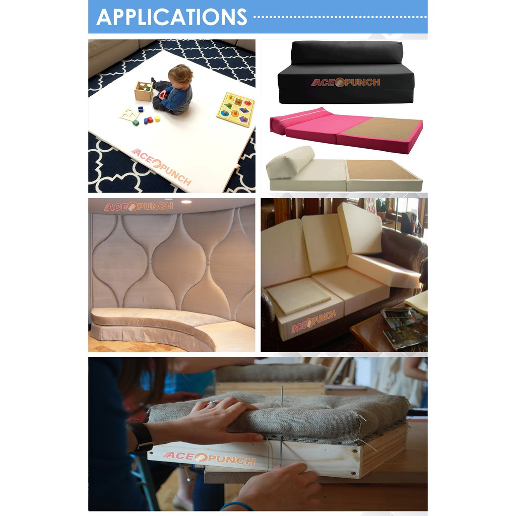 "Cushion Replacement Medium Density Foam Sheet 1.5""x 12""X 28"" Upholstery Foam"