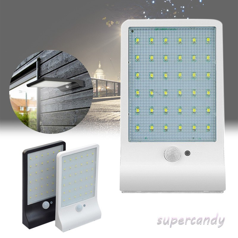 36//48 LED Solar Powered Motion Sensor Security Outdoor Lights Waterproof Lamp UK