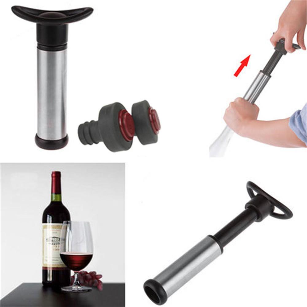 Reusable Wine Bottle Vacuum Saver Sealer Preserver Pump 2 Stopper KItchen Tool