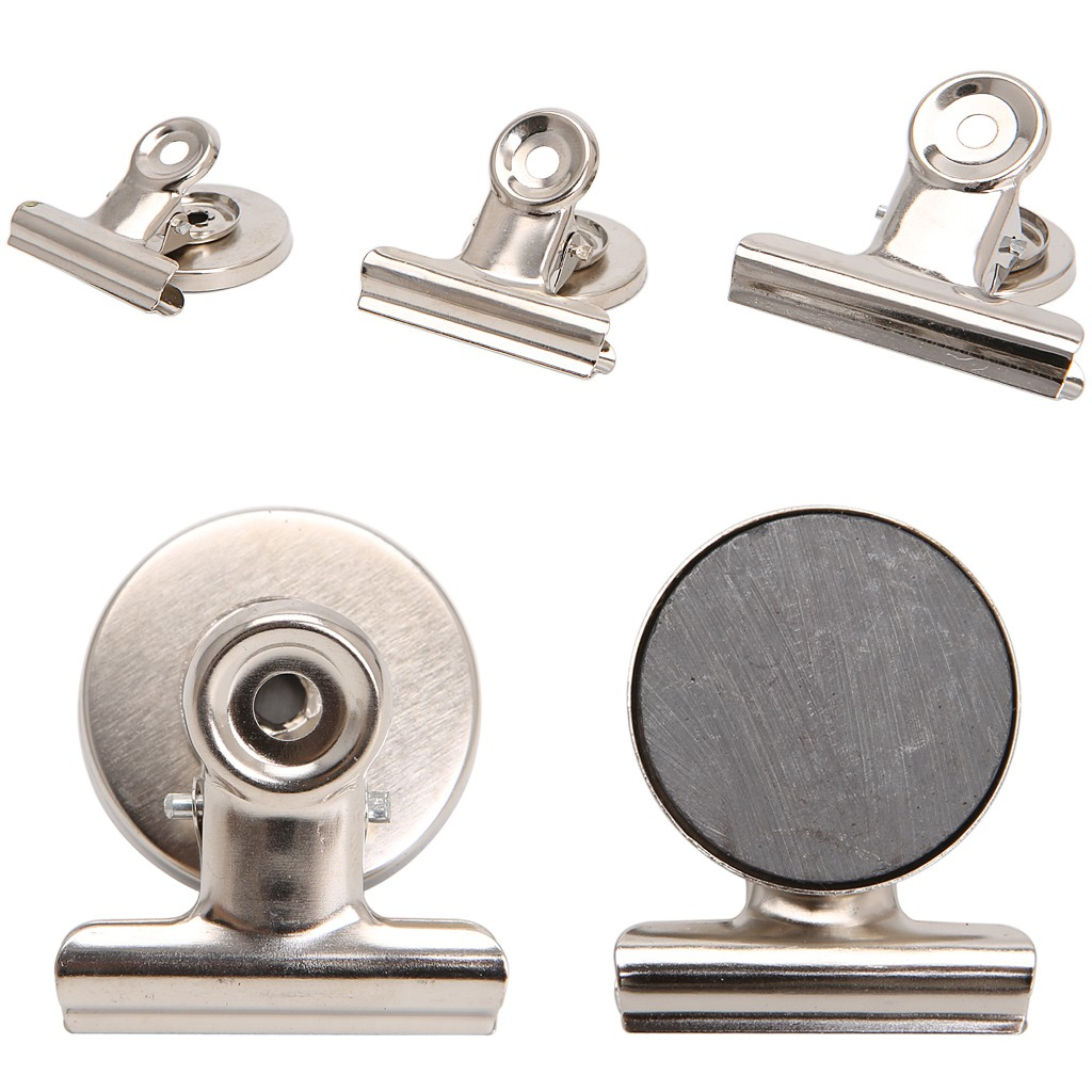 5PCS//lot Magnet Round Refrigerator Memo Note Wall Magnetic Clips Clamp Holder