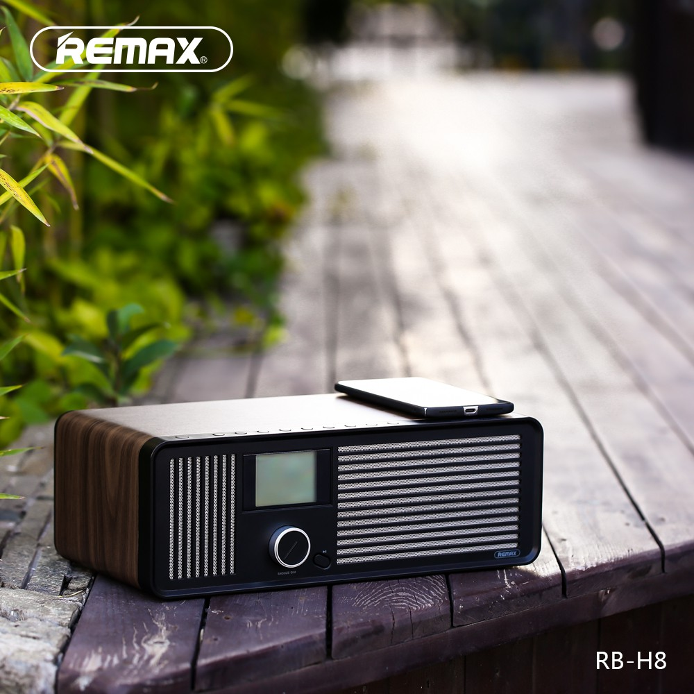 Remax Rb H8 Retro Wood Dual Loudspeakers Wireless Bluetooth Speaker Type M23 Series Grey Alarm Clock Shopee Singapore