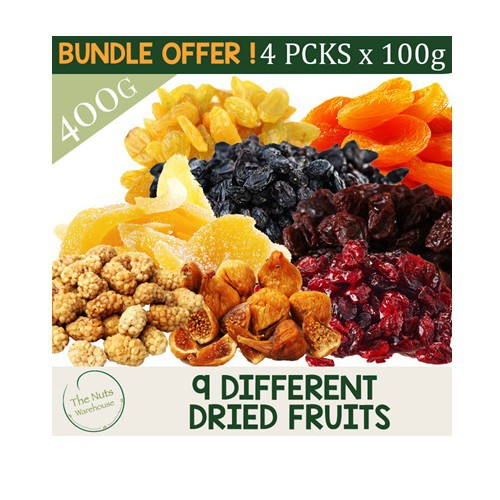 MIX AND MATCH 4 X 100G DRIED FRUITS!!! 9 Different Choices!
