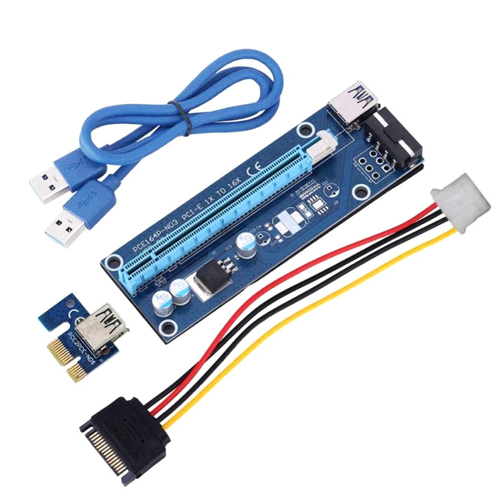 6pin PCI-E USB3.0 1x to 16x Extender Riser Card with 3m Cat6 RJ45 ...