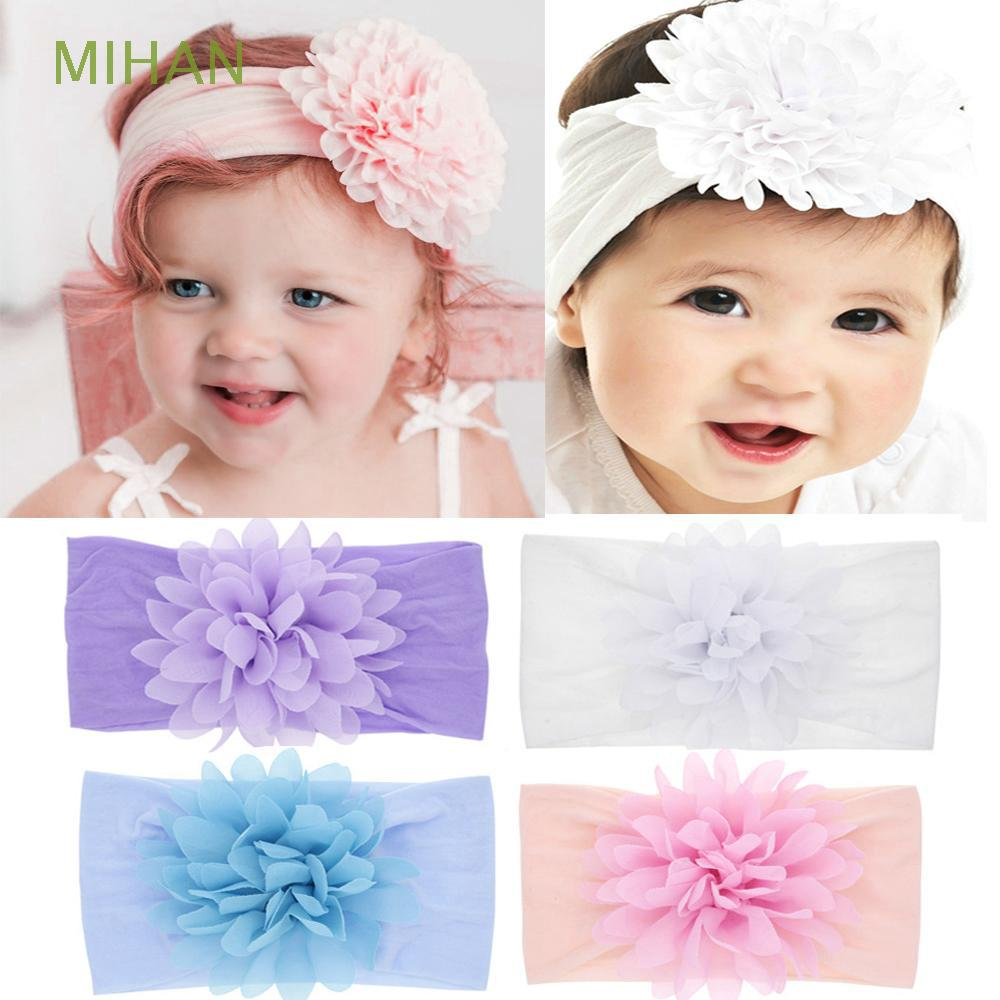 Baby Headbands Women Hair Ties 30Pcs Elastic Soft Nylon DIY Hairband for Baby Simple Headwrap Girls Hair Clips Mix-colors