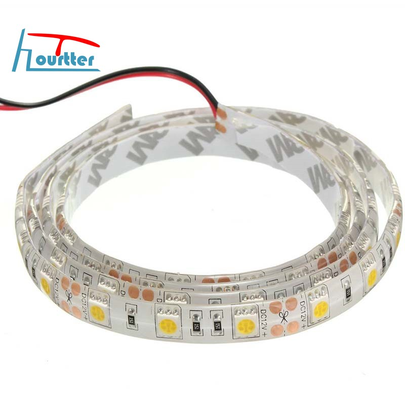 SODIAL R 1M 60-3528 SMD etanche LED Strip Lumineuse DC12V LED Strip Lumineuse Blanc Chaud